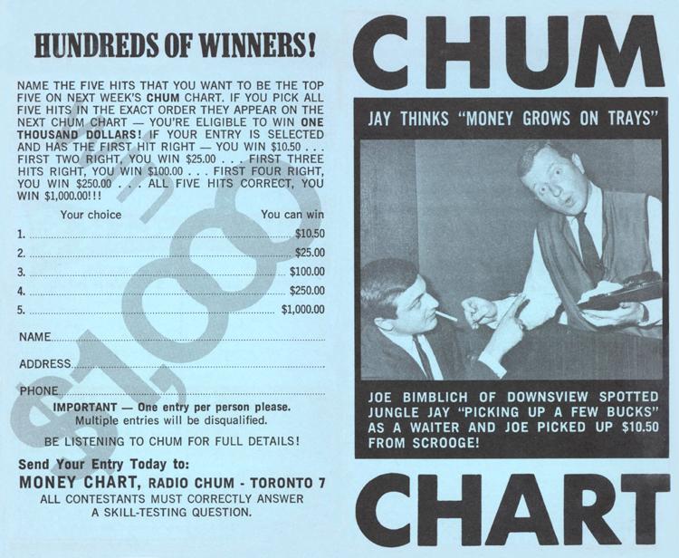 the chum tribute site  1967 charts
